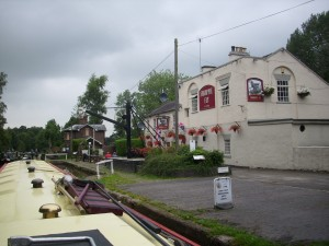 The Shroppie fly pub in Audlum